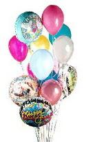 İzmir Konak çiçek yolla , çiçek gönder , çiçekçi   görsel kaliteli 17 uçan balon buketi tanzimleri