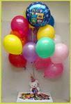 İzmir Konak çiçekçi telefonları  25 adet uçan balon ve 1 kutu çikolata hediye