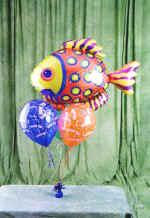 İzmir Konak çiçek yolla , çiçek gönder , çiçekçi   9 adet uçan balon renkli oyuncak balonlar