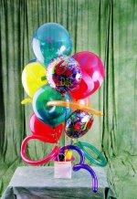 İzmir Konak çiçek siparişi sitesi  karisik görüntüde renkli uçan balon buketi