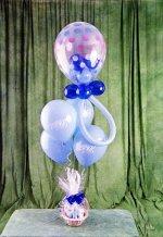 İzmir Konak çiçek yolla , çiçek gönder , çiçekçi   15 adet uçan balon ve küçük kutuda çikolata