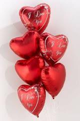 İzmir Konak çiçek siparişi vermek  6 adet kirmizi folyo kalp uçan balon buketi