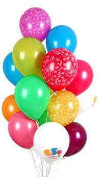 İzmir Konak çiçek online çiçek siparişi  30 adet uçan balon buketi demeti renkli