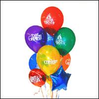 İzmir Konak internetten çiçek siparişi  21 adet renkli uçan balon hediye ürünü