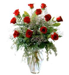 Vazo içerisinde 11 kirmizi gül  İzmir Konak online çiçekçi , çiçek siparişi