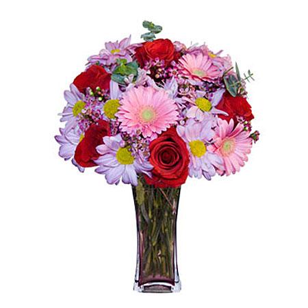 Görsel hediye karisik cam mevsim demeti  İzmir Konak çiçek servisi , çiçekçi adresleri