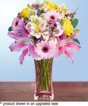 Anneme hediye karisik cam mevsim demeti  İzmir Konak yurtiçi ve yurtdışı çiçek siparişi