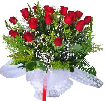 11 adet gösterisli kirmizi gül buketi  İzmir Konak kaliteli taze ve ucuz çiçekler