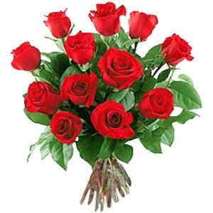 11 adet bakara kirmizi gül buketi  İzmir Konak çiçek siparişi sitesi