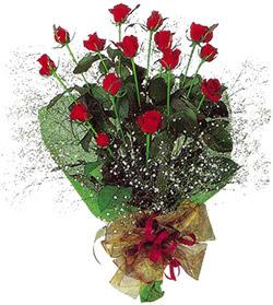11 adet kirmizi gül buketi özel hediyelik  İzmir Konak çiçek servisi , çiçekçi adresleri