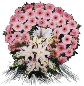 Cenaze çelengi cenaze çiçekleri  İzmir Konak online çiçekçi , çiçek siparişi