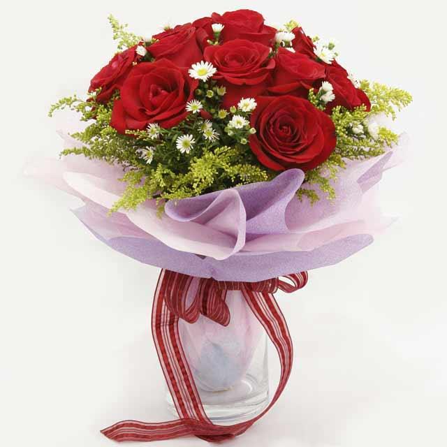 Çiçek gönderme estetikliginiz 11 gül buket  İzmir Konak çiçek servisi , çiçekçi adresleri