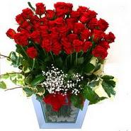 İzmir Konak yurtiçi ve yurtdışı çiçek siparişi   51 adet kirmizi gül aranjmani