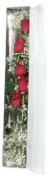 İzmir Konak çiçek mağazası , çiçekçi adresleri   5 adet gülden kutu güller