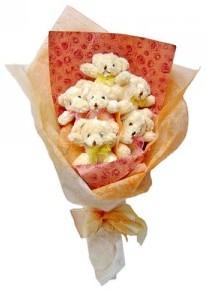 12 adet ayiciktan buket  İzmir Konak çiçek mağazası , çiçekçi adresleri