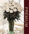 İzmir Konak çiçekçi mağazası  Beyaz güllerden vazo tanzim