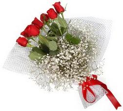 7 adet kirmizimi kirmizi gül buketi  İzmir Konak çiçek satışı