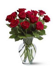 İzmir Konak online çiçek gönderme sipariş  cam yada mika vazoda 10 kirmizi gül