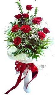 İzmir Konak hediye sevgilime hediye çiçek  10 adet kirmizi gül buketi demeti