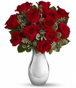 İzmir Konak online çiçekçi , çiçek siparişi   vazo içerisinde 11 adet kırmızı gül tanzimi