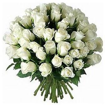 İzmir Konak ucuz çiçek gönder  33 adet beyaz gül buketi