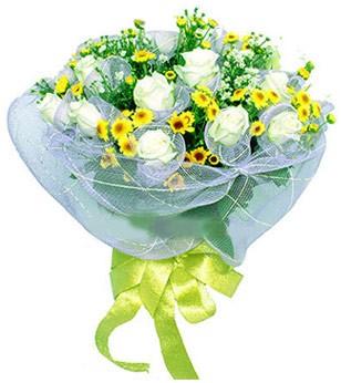 İzmir Konak çiçek mağazası , çiçekçi adresleri  12 adet özel beyaz gül buketi