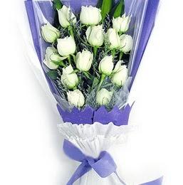 İzmir Konak çiçek servisi , çiçekçi adresleri  11 adet beyaz gül buket modeli