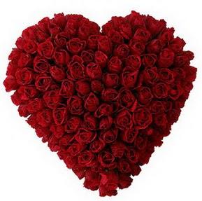 İzmir Konak çiçek servisi , çiçekçi adresleri  muhteşem kırmızı güllerden kalp çiçeği