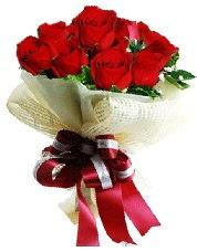 Görsel 12 adet kırmızı gül buketi  İzmir Konak çiçek yolla , çiçek gönder , çiçekçi