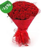 51 adet kırmızı gül buketi özel hissedenlere  İzmir Konak çiçek mağazası , çiçekçi adresleri