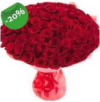 Özel mi Özel buket 101 adet kırmızı gül  İzmir Konak çiçekçi telefonları