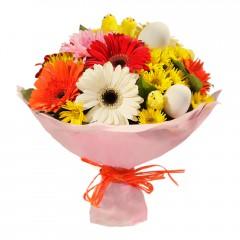 Karışık mevsim buketi Mevsimsel çiçek  İzmir Konak yurtiçi ve yurtdışı çiçek siparişi