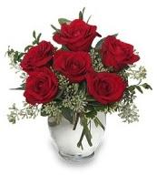 Vazo içerisinde 5 adet kırmızı gül  İzmir Konak çiçek servisi , çiçekçi adresleri