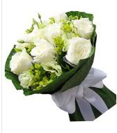9 adet beyaz gül buketi  İzmir Konak çiçek mağazası , çiçekçi adresleri