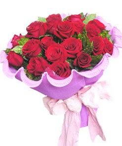 12 adet kırmızı gülden görsel buket  İzmir Konak çiçek servisi , çiçekçi adresleri