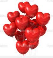 25 adet kalp uçan balon buketi