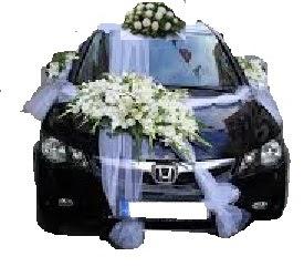 İzmir Konak hediye sevgilime hediye çiçek  Çift çiçekli sünnet düğün ve gelin arabası süsleme