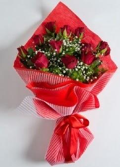 11 adet kırmızı gülden buket  İzmir Konak çiçek yolla , çiçek gönder , çiçekçi