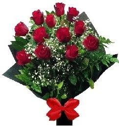11 adet kırmızı gülden buket  İzmir Konak uluslararası çiçek gönderme
