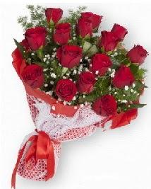 11 kırmızı gülden buket  İzmir Konak çiçek siparişi sitesi