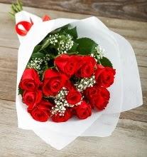 9 kırmızı gülden buket çiçeği  İzmir Konak cicekciler , cicek siparisi