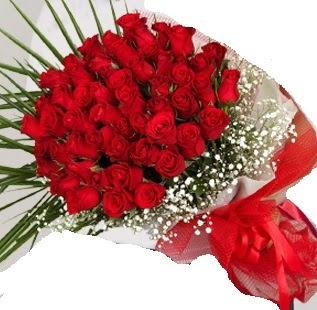 51 adet kırmızı gül buketi  İzmir Konak online çiçek gönderme sipariş