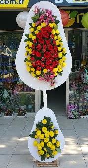Düğün nikah açılış Çiçeği Çift katlı sepet  İzmir Konak kaliteli taze ve ucuz çiçekler