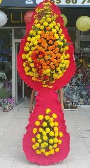 Çift katlı düğün nikah açılış çiçeği  İzmir Konak hediye çiçek yolla