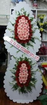 Çift katlı düğün nikah açılış çiçeği  İzmir Konak online çiçek gönderme sipariş