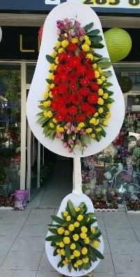 Çift katlı düğün çiçekleri  İzmir Konak çiçek mağazası , çiçekçi adresleri
