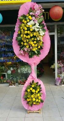Çift katlı düğün açılış çiçeği  İzmir Konak ucuz çiçek gönder