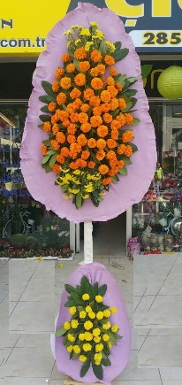 İzmir Konak İnternetten çiçek siparişi  Çift katlı düğün nikah çiçeği