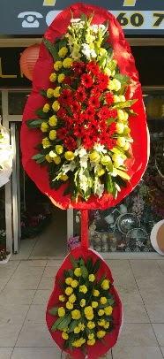 Çift katlı düğün açılış çiçek modeli  İzmir Konak ucuz çiçek gönder