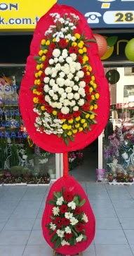 İzmir Konak çiçek gönderme  Çift katlı düğün nikah çiçeği  İzmir Konak çiçek yolla